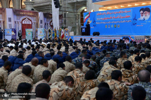 تجدید میثاق کارکنان وظیفه نیروهای مسلح با آرمان های حضرت امام(س)