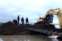 راه آهن اهواز - خرمشهر دچار آبگرفتگی شد