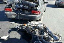 راکب موتوردر تصادف جاده روستایی ورامین کشته شد