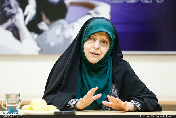 ابتکار: نظر امام (ره) دخالت خانمها در مقدرات اساسی کشور بود