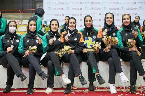 جشن قهرمانی تیم والیبال زنان سایپا در لیگ برتر