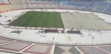 آمادهسازی ورزشگاه یادگار امام(س) تبریز برای دیدار با شهرخودرو+عکس