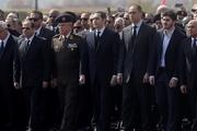 عکس پر معنا از مراسم تشییع جنازه حسنی مبارک