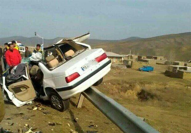 تصادف در محور سیرجان به بندرعباس سه کشته برجا گذاشت