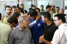 کاروان تیم استقلال در میان استقبال هواداران وارد اهواز شد