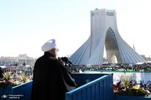 رئیس جمهور در مراسم راهپیمایی 22 بهمن