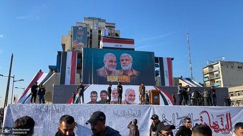 برگزاری سالگرد شهادت حاج قاسم و ابومهدی در عراق
