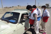 نیروهای هلال احمر در مبادی ورود و خروج ۵ شهرستان سیستان و بلوچستان مستقر شدند