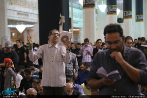 مراسم احیای شب نوزدهم ماه مبارک رمضان در حرم مطهر حضرت معصومه(س)