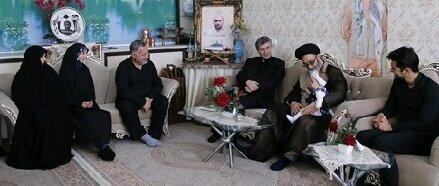 دیدار حجتالاسلام آلهاشم با دو خانواده شهید مدافع حرم