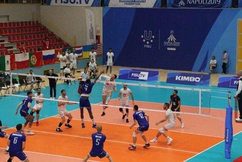 شکست والیبال دانشجویان ایران در یونیورسیاد ۲۰۱۹