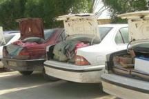 چهار دستگاه خودروی حمل کالای قاچاق در دیواندره توقیف شد