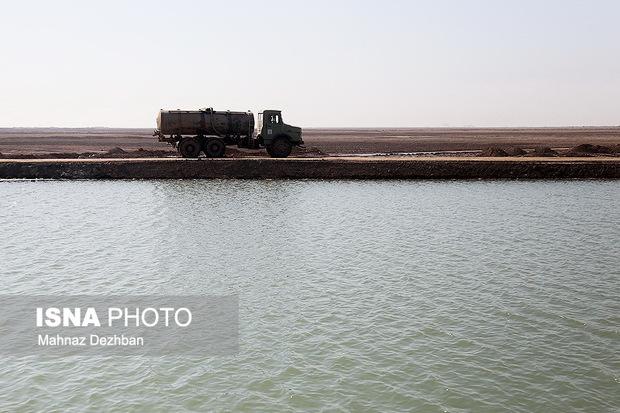 حجم آب برداشتی شادگان از آب غدیر خوزستان افزایش یافت