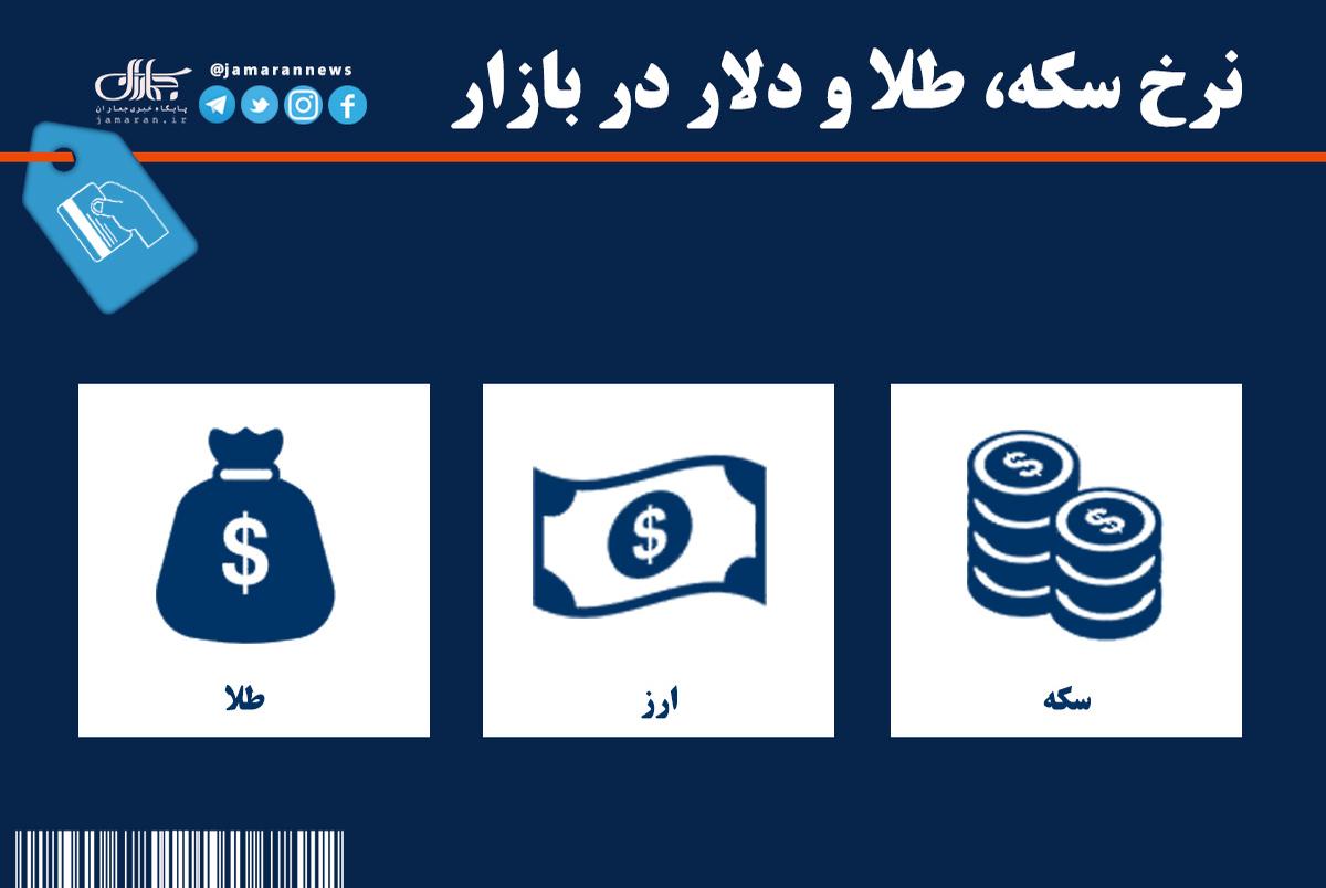 قیمت سکه، طلا و دلار در بازار امروز + جدول/ 26 خرداد 1400