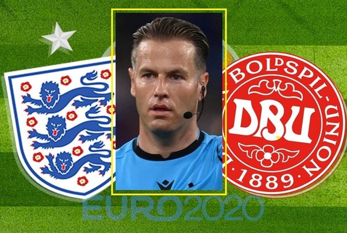 معرفی داور دیدار انگلیس و دانمارک در نیمه نهایی یورو 2020