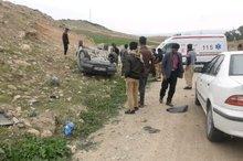 واژگونی خودروی ۴۰۵ در محور دهدشت به چرام یک مصدوم برجای گذاشت