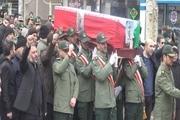 پیکر جانباز مدافع حرم در مرند تشییع شد