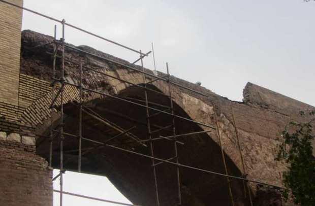 خطر ریزش پل تاریخی ساسانی در دزفول