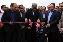 افتتاح دو پروژه صنعتی و ورزشی در شهرستان رشت