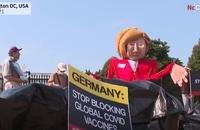 تظاهرات مرکل