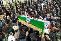 شهید مدافع وطن در ایذه آرام گرفت