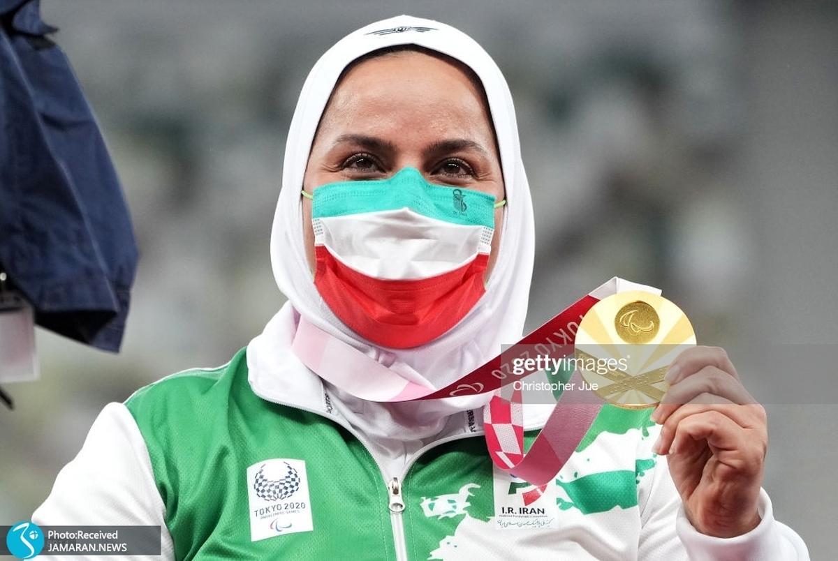 استقبال از هاشمیه متقیان قهرمان پارالمپیک توکیو در فرودگاه اهواز+ویدیو
