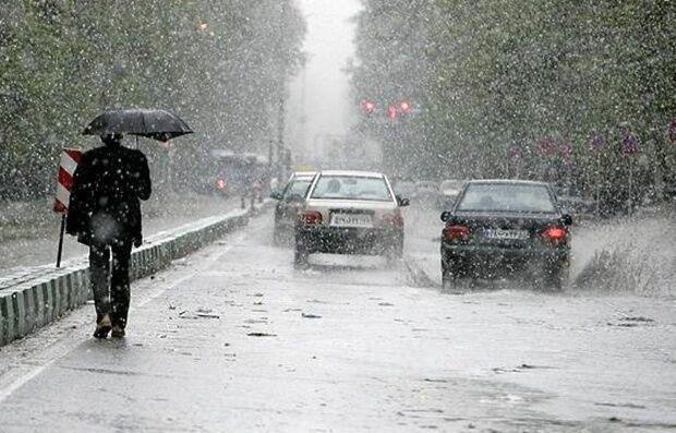 باران شدید در البرز سیلاب جاری کرد