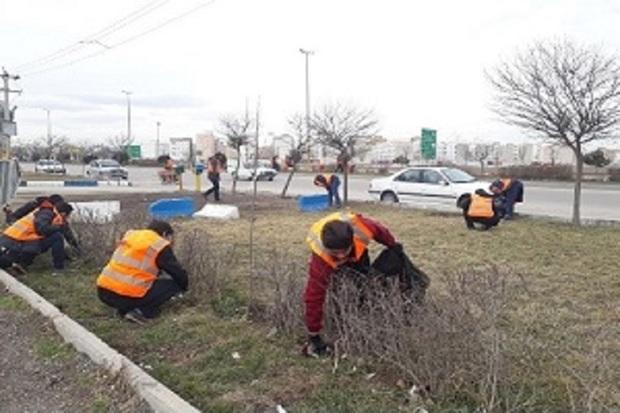 پاکسازی ورودی های شهر اردبیل آغاز شد