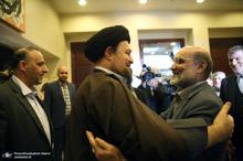دیدار رییس و کارکنان صدا و سیما با سیدحسن خمینی