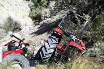 واژگونی تراکتور در چگنی یک کشته برجا گذاشت