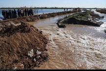 سیلاب به10هزارهکتار زمین های کشاورزی شهرستان هویزه خسارت زد