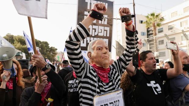 تظاهرات علیه نتانیاهو از سر گرفته شد