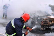 آتش سوزی خودرو در فردیس یک مصدوم داشت