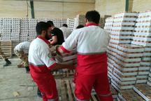 ارسال 40 تن مواد غذایی از اندیمشک به زلزله زدگان