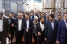طرح توسعه شرکت صنایع نساجی با حضور وزیر صنعت اجرا شد
