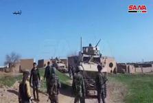 مقابله ارتش و ساکنان یک روستای سوریه با نیروهای اشغالگر آمریکا