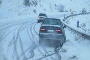 محور توسکستان مسدود شد  تردد مسیرهای کوهستانی گلستان با زنجیرچرخ