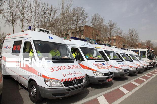 پنج دستگاه آمبولانس از هرمزگان در مرز شلمچه مستقر شد