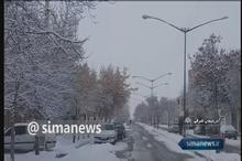 بارش برف در نیمه غربی، مرکز و شمال شرق ایران
