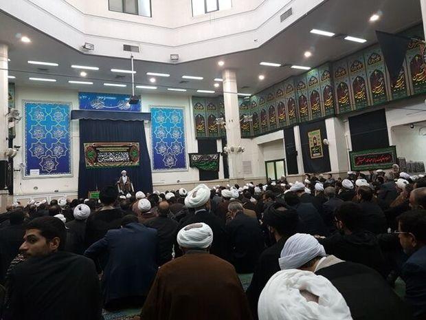 آیین سوگواری تاسوعای حسینی در دفتر رهبر انقلاب در قم برگزار شد