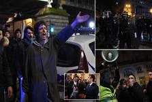 ماکرون از دست معترضان فرار کرد+ تصاویر