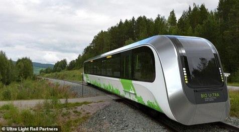 طراحی قطاری با سوخت زباله +عکس