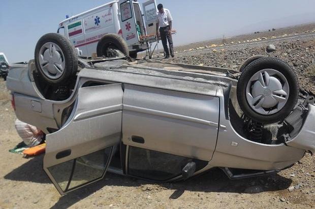 واژگونی خودرو در گلپایگان 2 مصدوم برجا گذاشت
