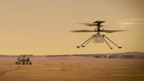 پرواز موفق هلیکوپتر «نبوغ» بر فراز مریخ +ویدیو