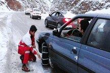 هلال احمر ایلام به 25 مسافر گرفتار برف و کولاک امداد رسانی کرد