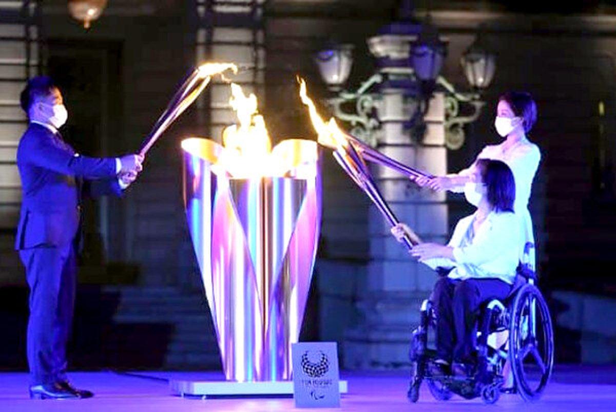 مشعل بازیهای پارالمپیک 2020 در توکیو روشن شد+ویدیو