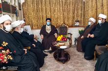 حضور سید حسن خمینی در بیت مرحوم آیت الله نظری خادم الشریعه(ره)