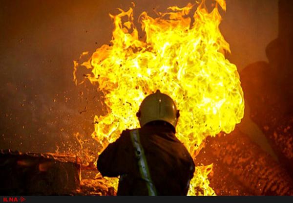 آتشسوزی گسترده گاوداری بنیاد مستضعفان در یاسوج