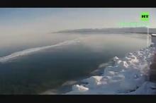 تایم لپس یخ زدن ۲۰ روزه دریاچه بایکال در ۳۵ ثانیه