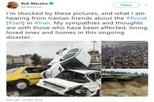 از دیدن تصاویر سیل در ایران شوکه شده ام
